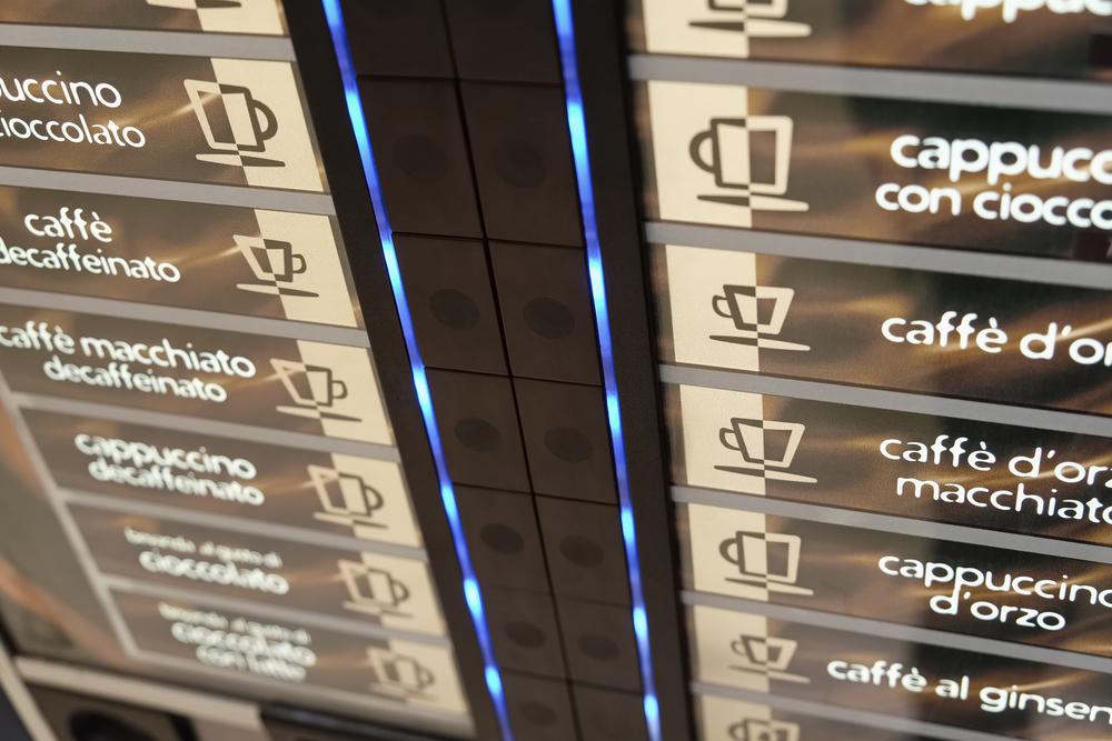 Kaffeevollautomat mit großer Auswahl an Kaffeesorten