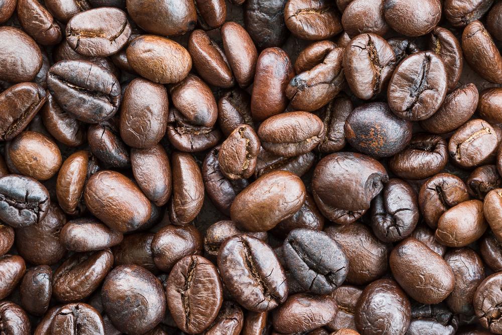 geröstete Robusta Kaffeebohnen